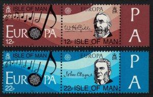 Isle of Man European Music Year 4v pairs with margins 1985 MNH SG#286-289