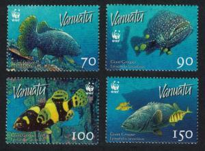 Vanuatu WWF Giant Grouper 4v SG#983 SC#908 MI#1304-1307