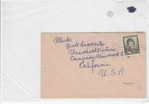 chile to usa  1952 stamps cover  Ref 8525