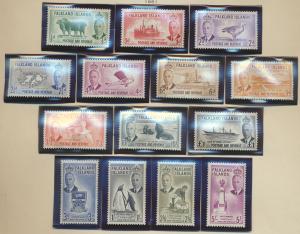 Falkland Islands Stamps Scott #107 To 120, Mint Lightly Hinged - Free U.S. Sh...
