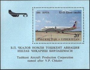 Uzbekistan #95, Souvenir Sheet, MNH