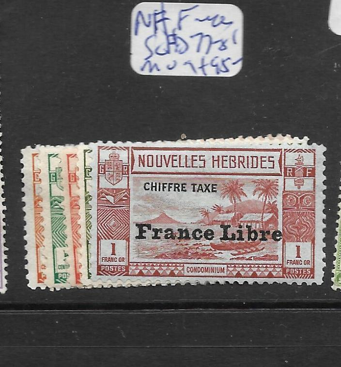 FRENCH NEW HEBRIDES (P1801B) POSTAGE DUE SG FD77-81  MOG