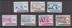 MALACCA, MALAYSIA, 1965 Orchids set of 7, mnh..