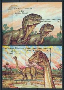 [106028] Antigua & Barbuda 1992 Prehistoric animals dinosaurs Allosaurus  MNH