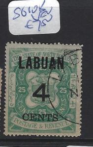 LABUAN (P2307B)  4C/25C  ARMS, LION SG 108   VFU