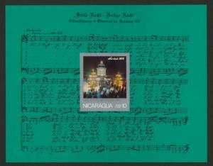 Nicaragua C890a MNH Music, Oberndorf Memorial Chapel Choir