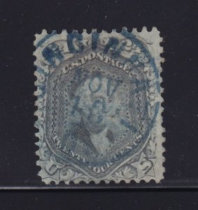 78a VF+ used SON blue cancel with nice color cv $ 425 ! see pic !
