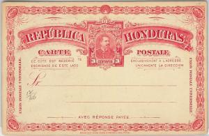 HONDURAS - - POSTAL STATIONERY CARD: Higgings & Gage # 12 - DOUBLE CARD