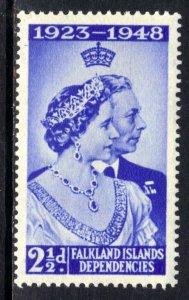 Falkland Islands Depd 1948 KGV1 2 1/2d Silver Wedding MM SG G19 ( K354 )