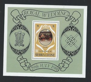 Sierra Leone souvenir sheet  mnh  sc 518