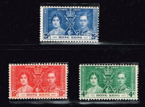 UK STAMP 1937 Coronation ISSUE COLLECTION LOT MNH/OG STAMP  HONG KONG SET