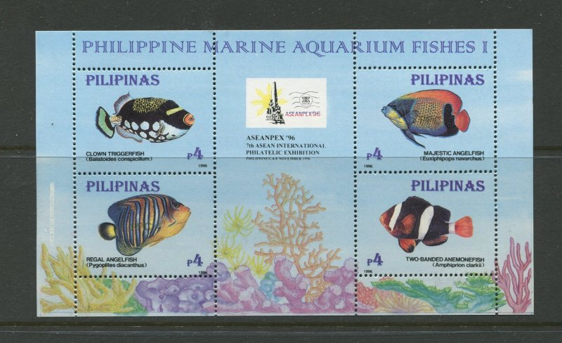 STAMP STATION PERTH Philippines #2403 Fish Souvenir Sheet MNH CV$6.00.