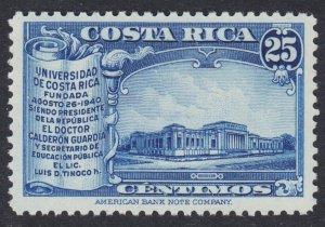 Costa Rica Scott 215 VF mint OG NH.