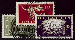 Switzerland SC#190-192 Used F-VF hr...Take a look!!