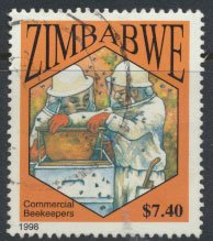 Zimbabwe SG 968  SC#  800 Used  Bee Keeping  see detail and scan