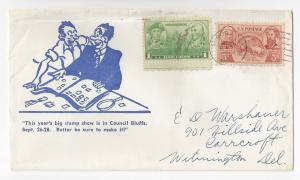 Stamp Show Illustrated Commercial Cover 1958 Council Bluffs