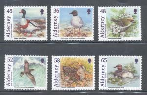 Alderney Sc 403-8 2011 Birds stamp set mint NH