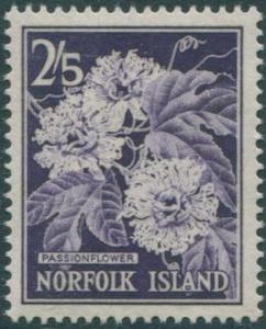 Norfolk Island 1960 SG33 2/5d violet Passionflower MLH