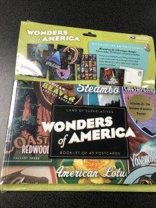 USPS Wonders of America Booklet of 40 Postal Cards & 20 - 39c Stamps  Unopened.