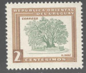 Uruguay Scott 607  MNH** 2c Tree stamp
