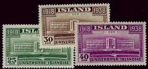 Iceland SC#209-211 Mint F-VF...Quality lot!!