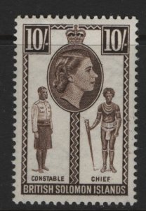 BRITISH SOLOMON ISLANDS 104 MNH CONSTABLE CHIEF ISSUE