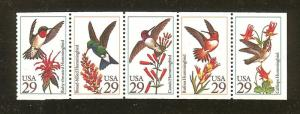 US Scott #2642-46 / Hummingbirds / 2646a from BK201 Book