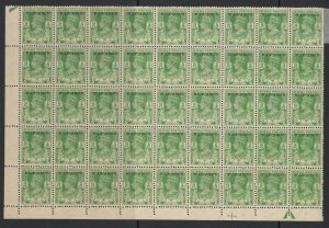 Burma, CW 20a, MNH block of 35 (1 hinged) Stamp Doubly Printed variety