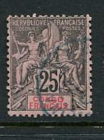 French Congo #27 Used