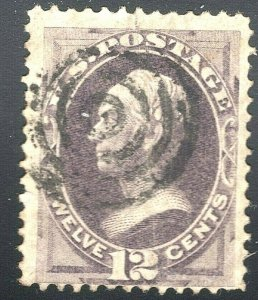 [MA4]   US #151 ~ Sound, USED 1870 12c Clay---Free Shipping!