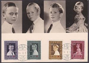 LIECHTENSTEIN 1957 Royal Family Children Maxicard - Vaduz cds................250
