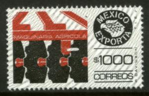 MEXICO Exporta 1588A $1000P Agricultural Machinery w/Burelage Pap 10 MINT NH VF