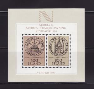 Iceland 564 Set MNH NORDIA Stamp Expo (A)