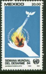 MEXICO 1367, U. N. Disarmament Week MINT, NH. F-VF.