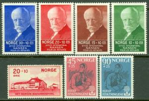 EDW1949SELL : NORWAY 1931-60 Scott #B4, 5-8, 64-65 All Very Fine, MNH. Cat $144.