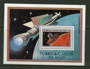 TURKS & CAICOS  1992  SPACE  UN-ISY 1992 SOUVENIR SHEET  MINT  NEVER HINGED