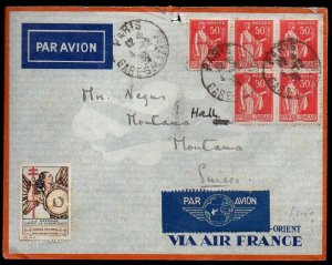 France: 1936 Air France cover to Switzerland from Paris