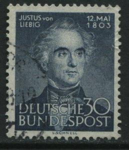 Germany 30 pf blue Justus von Liebig used