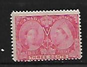 CANADA, 53, USED, THIN, JUBILEE ISSUE