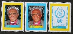 1986 Cameroon 1135-1137 Nobel laureates / Bischof Desmond Tutu 6,50 €
