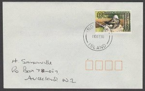 NORFOLK IS 1995 cover to New Zealand  - 35c Birds / Christmas...............A720
