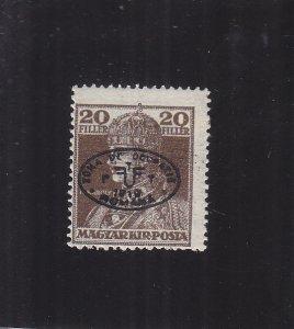Hungary: Sc #2N29a, Black Overprint, MH (S18130)