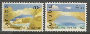 ARUBA  86-87  MINT HINGED,  NATURAL BRIDGES IN ARUBA
