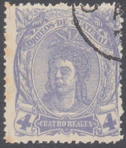 GUATEMALA  An old forgery of a classic stamp................................C924