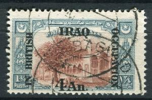 IRAQ; 1918 BRITISH OCCUPATION issue fine used 4a. value + good POSTMARK