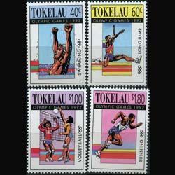 TOKELAU 1992 - Scott# 178-81 Olympics Set of 4 NH