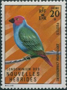 New Hebrides French 1972 SGF176 20c Bird MNH