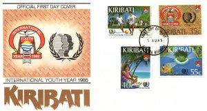 Kiribati 460-463 U/A FDC