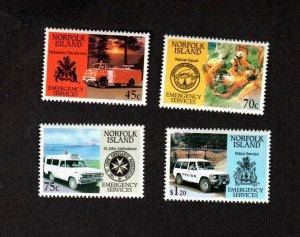 NORFOLK ISLAND MNH SET OF 4 EMERGENCY SERVICES STAMPS SCOTT # 534 - 537