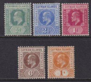 Cayman Islands 1905 SC 8-12 LH Set